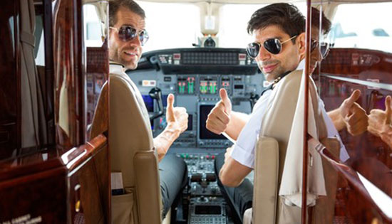 pilots on plane